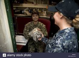 PORTSMOUTH, Va. (Oct. 2, 2018) Seaman Jenny Porter from Cocoa Beach, Fl.,  conducts personal protective equipment checkouts in the safety supply  office of the aircraft carrier USS Dwight D. Eisenhower (CVN 69)(Ike).