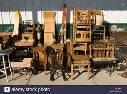 old furniture for sale at an antique mall in michigan usa B7G3MT