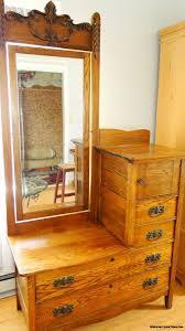 Oak Bedroom Vanity Antique Carved Vanity Eastman Bedroom Dresser With Mirror Wood