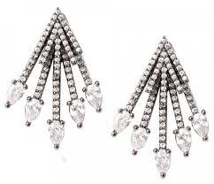 <b>Черненые серьги</b>-<b>джекеты</b> с <b>кристаллами</b> от Herald Percy с ...