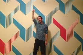 diy painted wall design is way cooler than any wallpaper you ll see photos huffpost