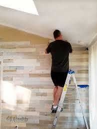 reclaimed wood wall installation diy