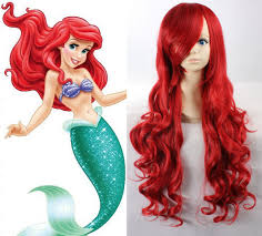 disney ariel red wig 75