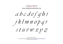 Pdf Calligraphy Alphabet Chart Lowercase Calligraphy