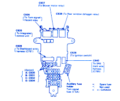 honda accord coupe 1989 fuse box block circuit breaker diagram 1989 honda accord wiring diagram honda accord 1991 main engine fuse box block circuit breaker diagram 1989 Honda Accord Wiring Schematic