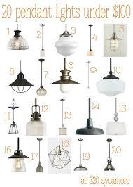pendant lighting fixtures kitchen. 20 great pendant lights under 100 kitchen lighting 320 sycamore fixtures