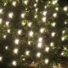 white net lights on white wire