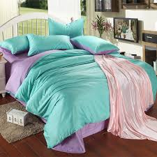 luxury purple turquoise bedding set king size blue green duvet cover sheet queen double bed in a bag quilt doona linen bedsheets in bedding sets from home