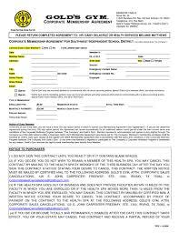 health club membership contract template