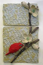 cardinal in dogwood amy meya ceramic wall art artful home on clay wall art pottery with 94 best murales de ceramica images on pinterest ceramic pottery