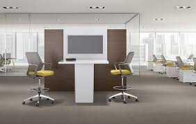 leather office. Leather Office Stool / Mesh Upholstered On Casters FLEXXY Ofs