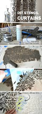 Drop Cloth Curtains Tutorial Best 25 Stenciled Curtains Ideas On Pinterest Painting Curtains