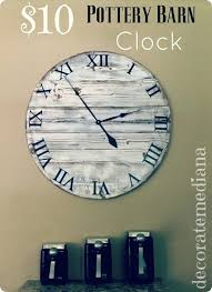 diy wood clock pottery barn inspired wood clock diy wood clock face diy wood clock