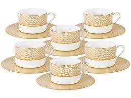 <b>Чайный набор Миллениум</b> Голд <b>Naomi</b>: 6 чашек + 6 блюдец ...