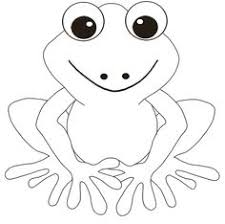Small Picture Frog Coloring Page and Word Tracing Tracing worksheets