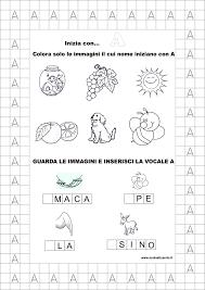 Classe Prima Italiano La Vocale A Schede Didattiche Da Scaricare