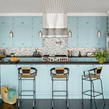 Kitchen Coastal Kitchen And Dining Room Pictures Yellow Cottage Coastal Kitchen Backsplash Ideas