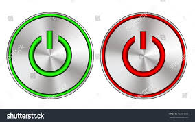 Led Button Lights Metallic On Off Button Led Lights Stock Vector Royalty Free