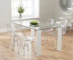 lavina 150cm glass and white high gloss dining table with charles awesome eames transpa chair intended