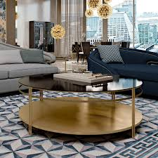 contemporary italian round coffee table