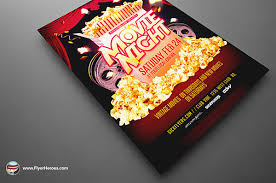 Movie Night Flyer Template On Behance