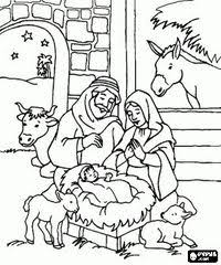 Posts Similar To Nativity Scene Coloring Pages Nativity Scene