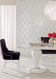 Silver Metallic Wallpaper Bedroom Silver Wallpaper Royal Purple Velvet Upholstery White