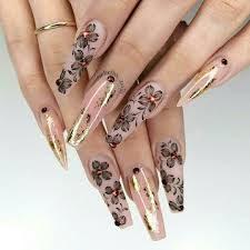 French Tip Stiletto Nail Designs Pinterest Jalapeño Ballerina Nails Shape Flower Nails