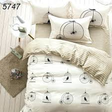 easy duvet cover put on bird cage bicycle printing leisure life bedding sets time bed