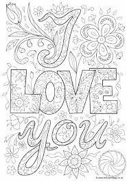 I Love You Doodle Colouring Page Coloring Pages Coloring Pages