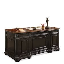 amaazing riverside home office. amazoncom riverside furniture allegro executive desk in rubbed black kitchen u0026 dining amaazing home office e