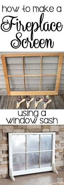 make a fireplace screen out of a window sash and mirror paint home improvement fireplaces