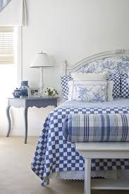 decorating in blue and white between