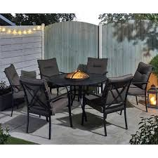 fire pit dining table set fire pit dining table set propane outdoor with round gas
