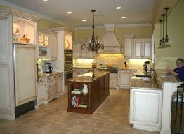 Elegant Kitchen Themes And Decorative Chandleliers With Modern Vanity  Cabinet