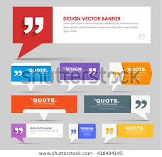Design Quotes Delectable Big Set Web Banners Foot Bubble Stock Vector Royalty Free