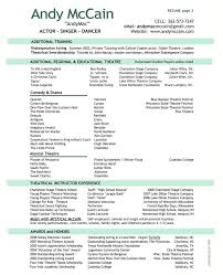 Resume Examples Nice Sample Of Two Page Resume Format Free Modern