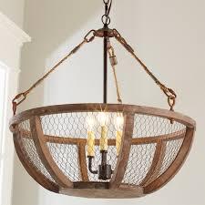 Chicken Wire Basket Chandelier Small Shades Of Light