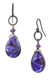paxton drop earring purple abalone