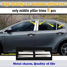 car body stick stainless steel glass window garnish pillar middle ...
