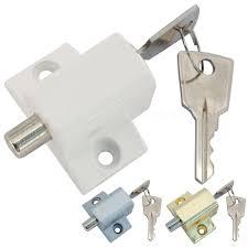 sliding patio door or window lock security locking push catch bolt 2 keys