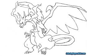 Pokemon Coloring Pages Charizard Free Printable Coloring Pages