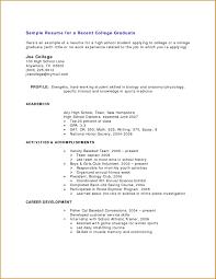 Comfortable Sample Resume College Student Applying Internship