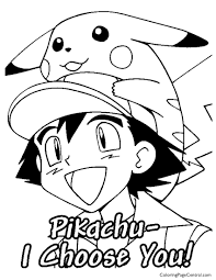 Small Picture Pokemon Ash Coloring Page 02 Coloring Page Central