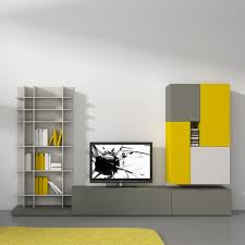 grey and yellow furniture. Exquisite Contemporary Living Room Interior Design With Natural Simple Black And White Colors Grey Yellow Furniture O