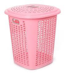 Pink Plastic Laundry Basket Best Cello Esquire Plastic Laundry Basket 60 Litres Pink Amazonin