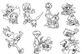 Small Picture Printable Digimon Coloring Pages Coloring Me