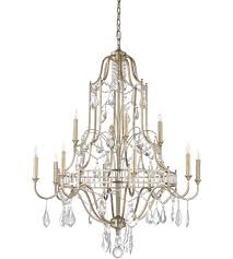 wildwood 67176 buckhead 12 light 35 inch antique silver leaf and clear chandelier ceiling light
