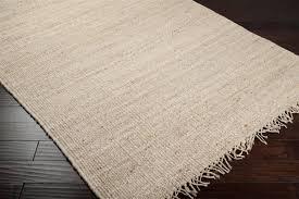 bleached jute rug corner