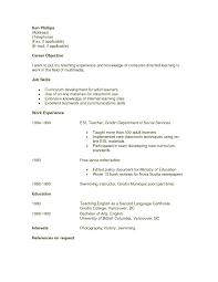 Esl Teacher Resume Example Sample Teacher Resume Objective Sop Proposal Esl Cover Letter Sample No 7